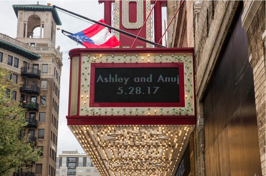 absolute wedding: ashley & anuj at the fox theater atlanta